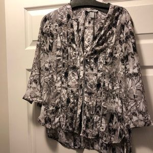 Button Down H&M Blouse With Floral Pattern